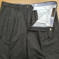 Luciano Barbera Gray Green Check Wool & Cashmere 5 Pkt Pants W35 Italy Made EUC