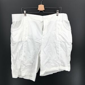 NEW Style & Co Bermuda Shorts roll cuff outdoor casual White 24W plus women's