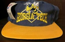 80'S VINTAGE THE GAME GEORGIA TECH YELLOW JACKETS SNAPBACK CAP NAVY GOLD
