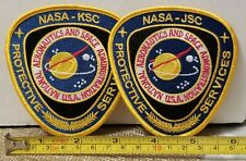 NASA Protective Service Security Police Patch Set. KSC & JSC - 100% Embroidered