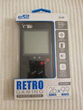 Retro Gaming Cell Phone Case iPhone 7plus 8 plus Black Durable 26 Games 99 Modes