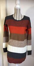 Jack BB Dakota Pullover Sweater Dress Multi-Stripes, Multicolor Sz XS