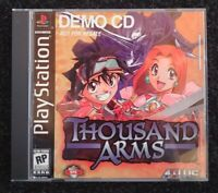 Thousand Arms Demo CD Not for Resale Ps1 Playstation One Atlus Tested Great Rare