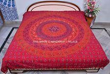 Red Mandala Bedspread Bedding Blanket Hippie Tapestries Ethnic Boho Wall Hanging