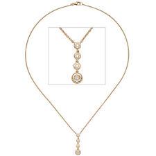 NEU Diamanten Goldkette Rosegold 0,20ct 585 echt Gold Collier 14 Karat Halskette