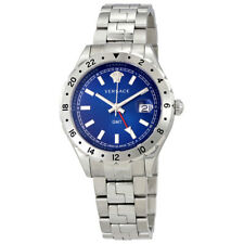 Versace Hellenyium GMT Blue Dial Mens Watch V1101 0015
