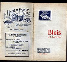 BLOIS (41) CATALOGUE GUIDE TOURISTIQUE & HISTORIQUE illustré en 1920-1930