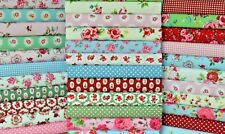 VINTAGE FLORAL COTTON FABRIC FAT QUARTERS + BY THE METRE 30 DESIGNS FREEPOST