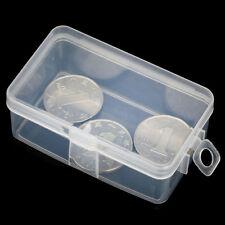2X Praktische Plastik Transparente Sammlung Container Fall Lagerung Kasten Klar