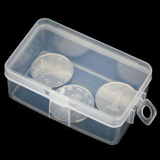 2PCS Plastic Transparent Lid Storage Box Bead Jewelry Container Case Organizer