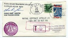 1968 Guam Tracking Stat. Dandan Initial Contact Apollo VII Charles Force SIGNED