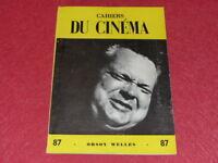 [REVUE LES CAHIERS DU CINEMA] N°87 # SEPT 1958 ORSON WELLES EO 1rst