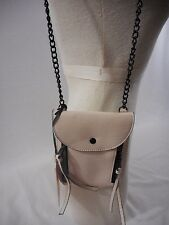 Juicy Couture Mini Bag Cell Phone Holder Crossbody Xbody White Black Chain