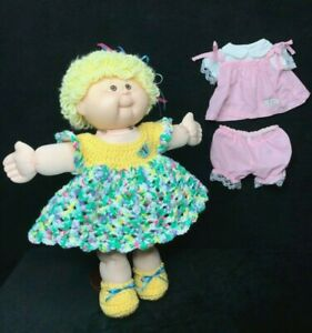 """CABBAGE PATCH KIDS 16"""" GIRL 2008 PLAY ALONG CPK & CUSTOM CLOTHES 25 ANNIVERSARY"""