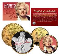 MARILYN MONROE California Quarter & JFK Half Dollar U.S. 2-Coin Set * LICENSED *