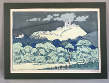 PV05006 Antique Unframed Colored Wood Block Philip Needell CORFE c1925
