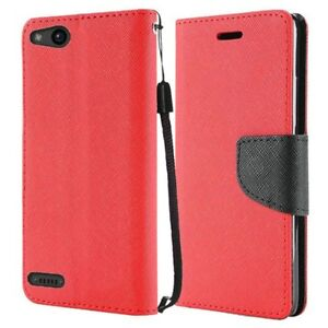 Glass Protector + Wallet Pouch Case Phone Cover for ZTE ZFive G C Z557BL Z558VL