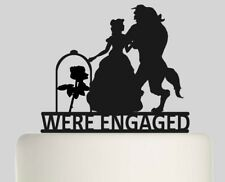 We´re Engaged Beauty and the Beast Acrylic Cake topper .369
