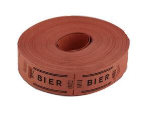 1 Rolle Wertmarken Bonrollen Gutscheinmarken Bier rot (36141-1)