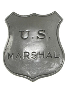 U.S. Marshall Shield Historic Replica Badge - Old West -   Made in the USA -