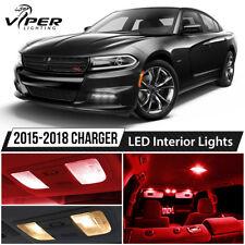 2015-2018 Dodge Charger Red LED Interior Lights Package Kit