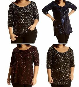 Womens Tops For Women UK Plus Size Tops Tunic Tops Sparkly Top Ladies Blouses