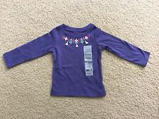NWT Carter's Baby Toddler Girls Purple Long Sleeve Shirt Size 12 Months