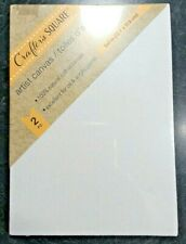 """2pk 5"""" x 7"""" White Cotton Artists Canvases Canvas Painting Acrylic or Oil Paints"""