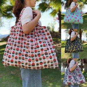 Eco Shopping Travel Shoulder Bag Oxford Tote Handbag Folding Reusable Bags