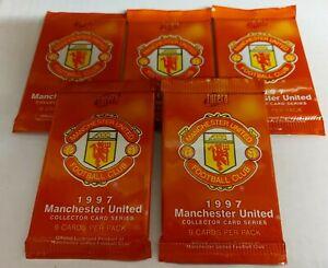 5 Futera 1997 Manchester United UNOPENED PACKETS - DAVID BECKHAM ROOKIE PSA 10 ?