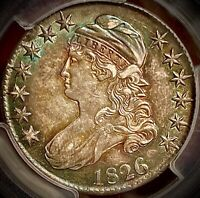 1826 capped bust half dollar pcgs au50 overton 104a