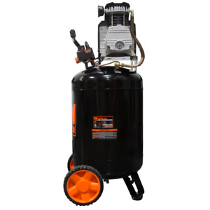 20 Gal. Oil Lubricated Portable Vertical Air Compressor Job Site Work Shop