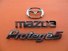 2002 2003 MAZDA PROTEGE 5 REAR CHROME EMBLEM LOGO BADGE SIGN SYMBOL 02 03 SET #4
