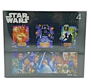 Star Wars Trilogy Collector's Edition 4-in-1 Jigsaw Puzzle Multipack