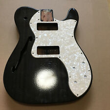 Electric Guitar body Used Fender Thinline Telecaster mahogany Half hollow black