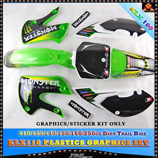 KLX110 STICKERS/GRAPHICS KIT for ATOMIK/PITPRO/THUMPSTAR PIT BIKE140/160/200CC