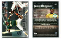 2019 TOPPS STADIUM CLUB MEMBERS ONLY /20 SP 132 RICKEY HENDERSON w MURRAY