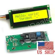 IIC/I2C/TWI 1602 Serial Yellow Backlight LCD Display For Arduino