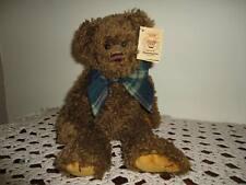 Bearington Raggles Brown Teddy Bear Jointed 1252 14 inch All Tags