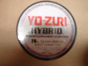 Yo-Zuri Hybrid Fluorocarbon 20 lb. 600yd Clear R659-CL Fishing Line 20lb. 600 yd