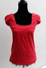 Red Square Necked Top. Size 8.Capped Sleeves.New Look.Spring/Summer