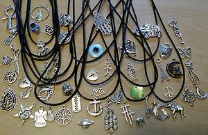 Black Leather Choker - Leather Cord Charm Choker Necklace – Retro Hippy Vintage,