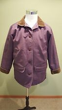 L.L. Bean Women's Purple and Brown Corduroy Heavy Barn Quilt Lined Jacket, Large