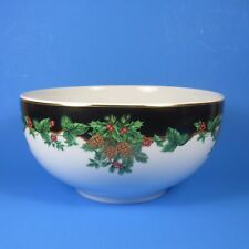 Waverly HOLIDAY BOUQUET Round Vegetable Serving Bowl Christmas Poland