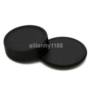 Rear lens + Body Cap Cover for M42 42mm Screw Mount Camera & Lens Black AU