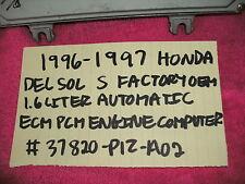 1996-1997 HONDA DEL SOL S FACTORY ECM ECU ENGINE COMPUTER 1.6 LITER AUTOMATIC