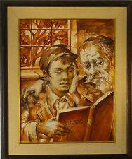 Maxim B. GOTTLIEB ( 1903 -1977) Judaica Jewish Rabbi oil painting signed 1965
