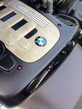 BMW E46 330cd CACHE MOTEUR boulons ROUGE ACIER INOXYDABLE