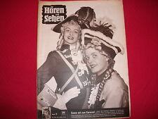 7  Hören und Sehen 28.02. bis 6. März 1954  Karneval Prinzengarde * Herta Staal