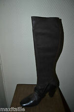 BOTTES  HAUTE  APL ANONYM TAILLE 36  CHAUSSURE BOOTS CAVALIERE SHOES CUIR  NEUF